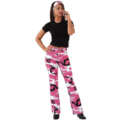 Womens Camouflage Stretch Flare Pants