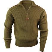 Mens Quarter Zip Acrylic Commando Sweater