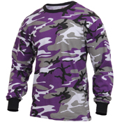 Ultra Force Mens Long Sleeve Camo T-Shirt