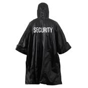 Security Vinyl Poncho - Black