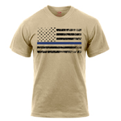Thin Blue Line with US Flag T-Shirt