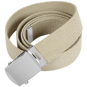 44 Inch Military Chrome Buckle Web Belts
