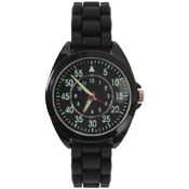 Silicone Strap Military Style Watch