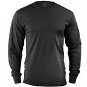 Mens Long Sleeve Solid T-Shirt
