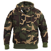 Mens Thermal Lined Hooded Sweatshirt