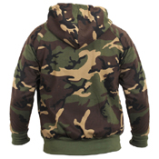 Mens Thermal Lined Hooded Sweatshirt