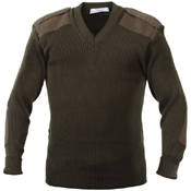 Mens GI Style Acrylic V-Neck Sweater