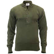Mens GI Style 5-Button Acrylic Sweater