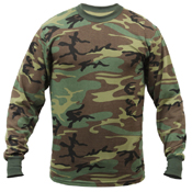 Mens Long Sleeve Camo T-Shirt
