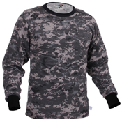 Mens Long Sleeve Digital Camo T-Shirts
