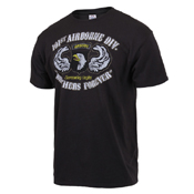 Black Ink 101st Airborne Division Printed T-Shirt