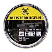 RWS Meisterkugeln .177 Flat Nose Pellets - 500pc