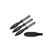 Black Zombie Hunter Throwing Knives