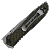 ZT 0640 Green Carbon Fiber Overlay Handle Folding Knife